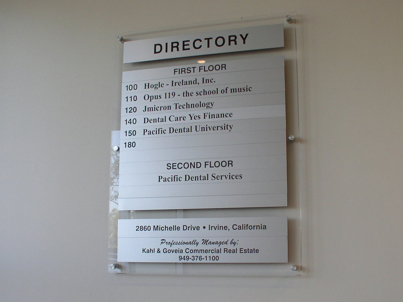 Contemporary Acrylic Directory