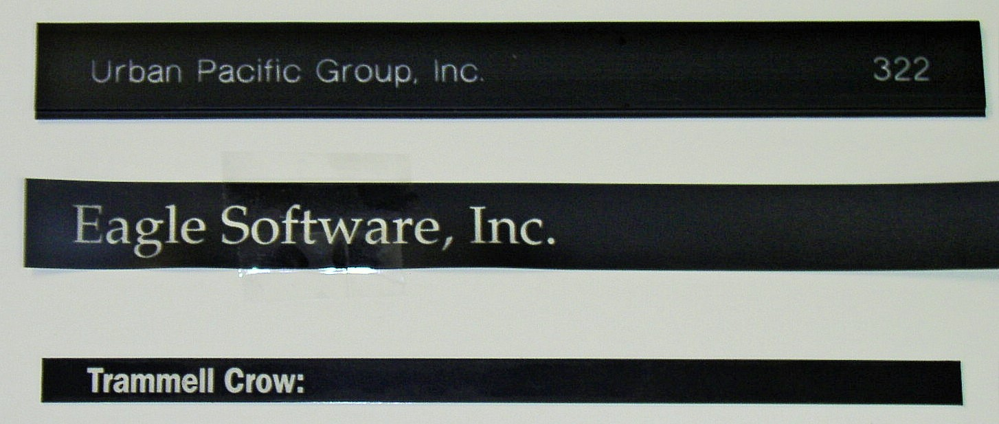 Replacement directory strips engraved
