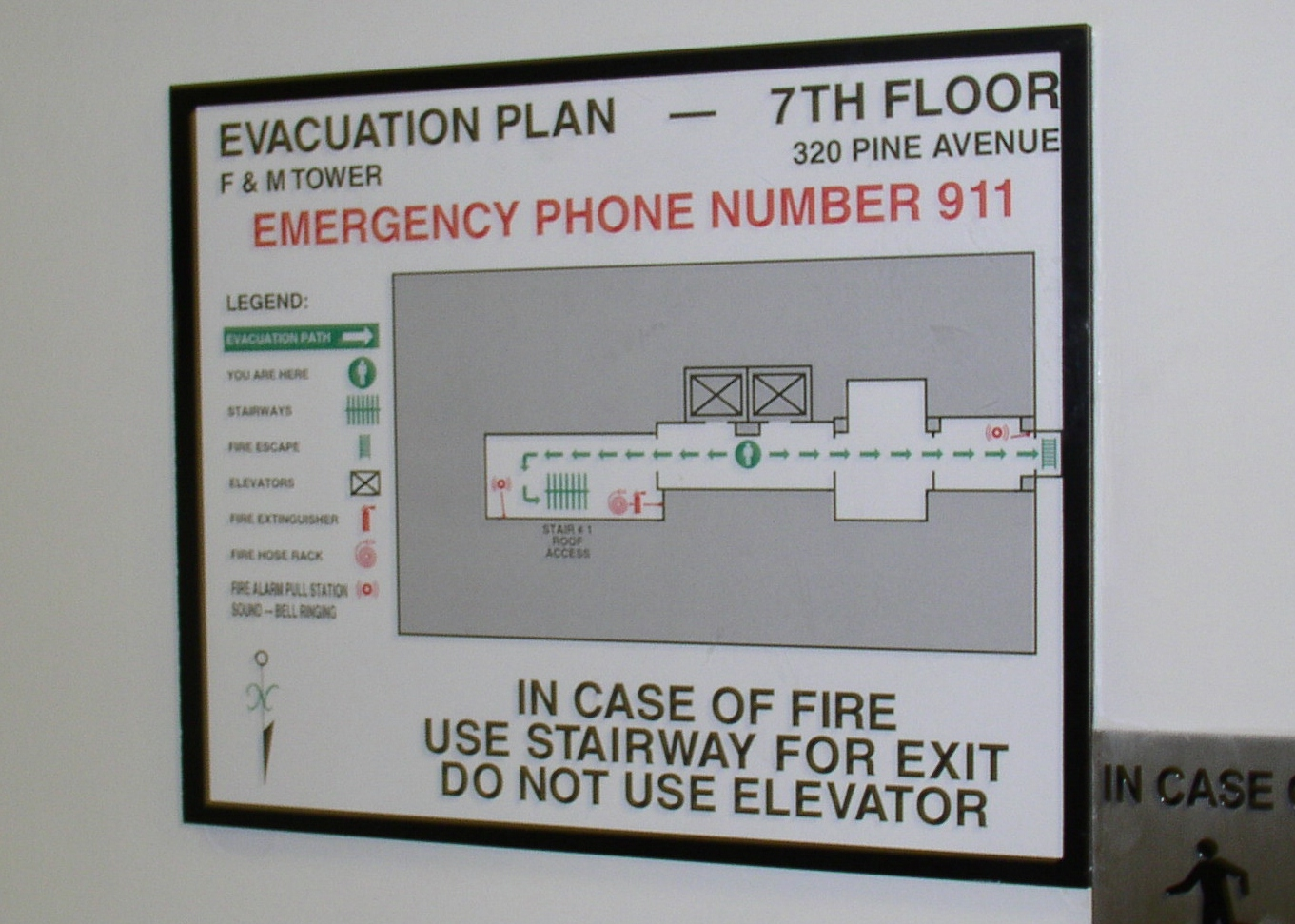 Evacuation Route Plan