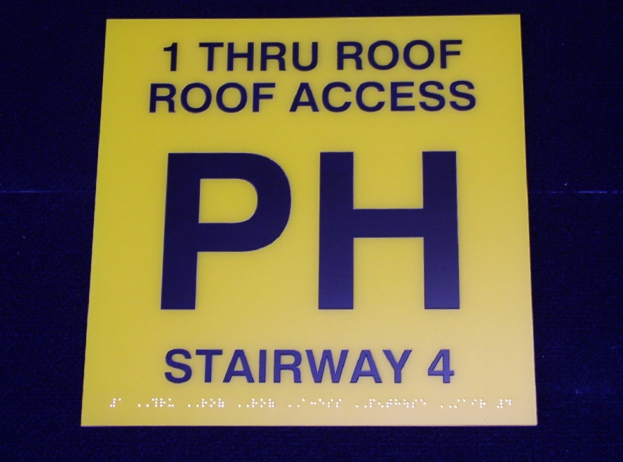 Stairwell Floor ID sign