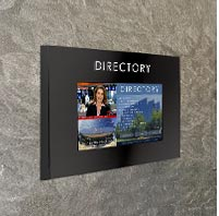 Touch screen directory cabinet